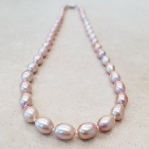 "REAL 17"" 9mm Lavender Pearl Necklace"